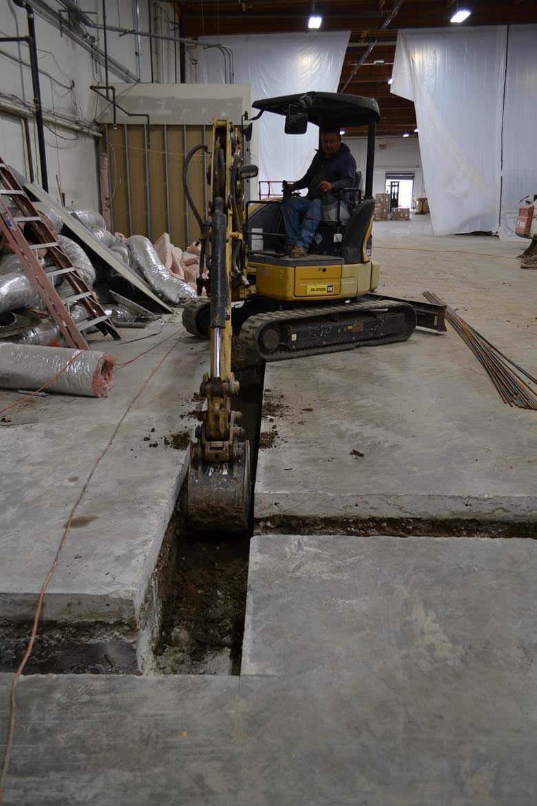 skinn lab concrete cutting project