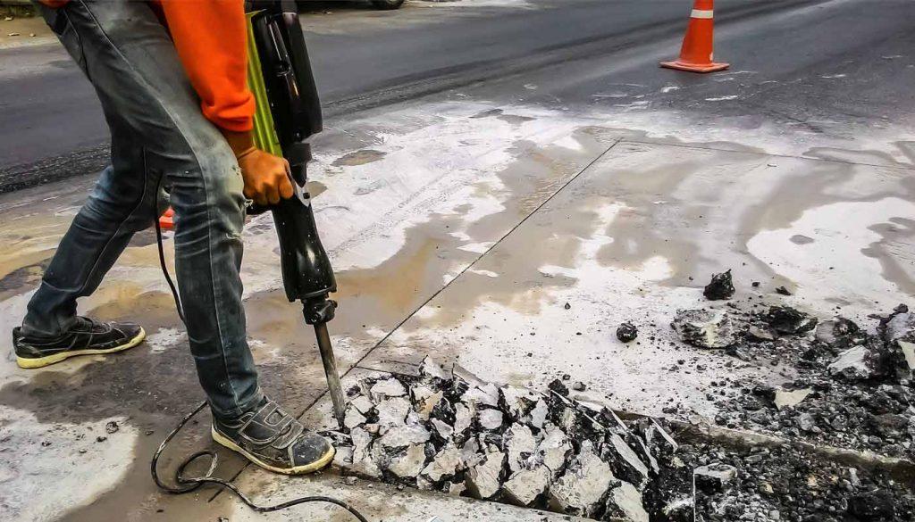 concrete breaking concrete removal in los angeles near me